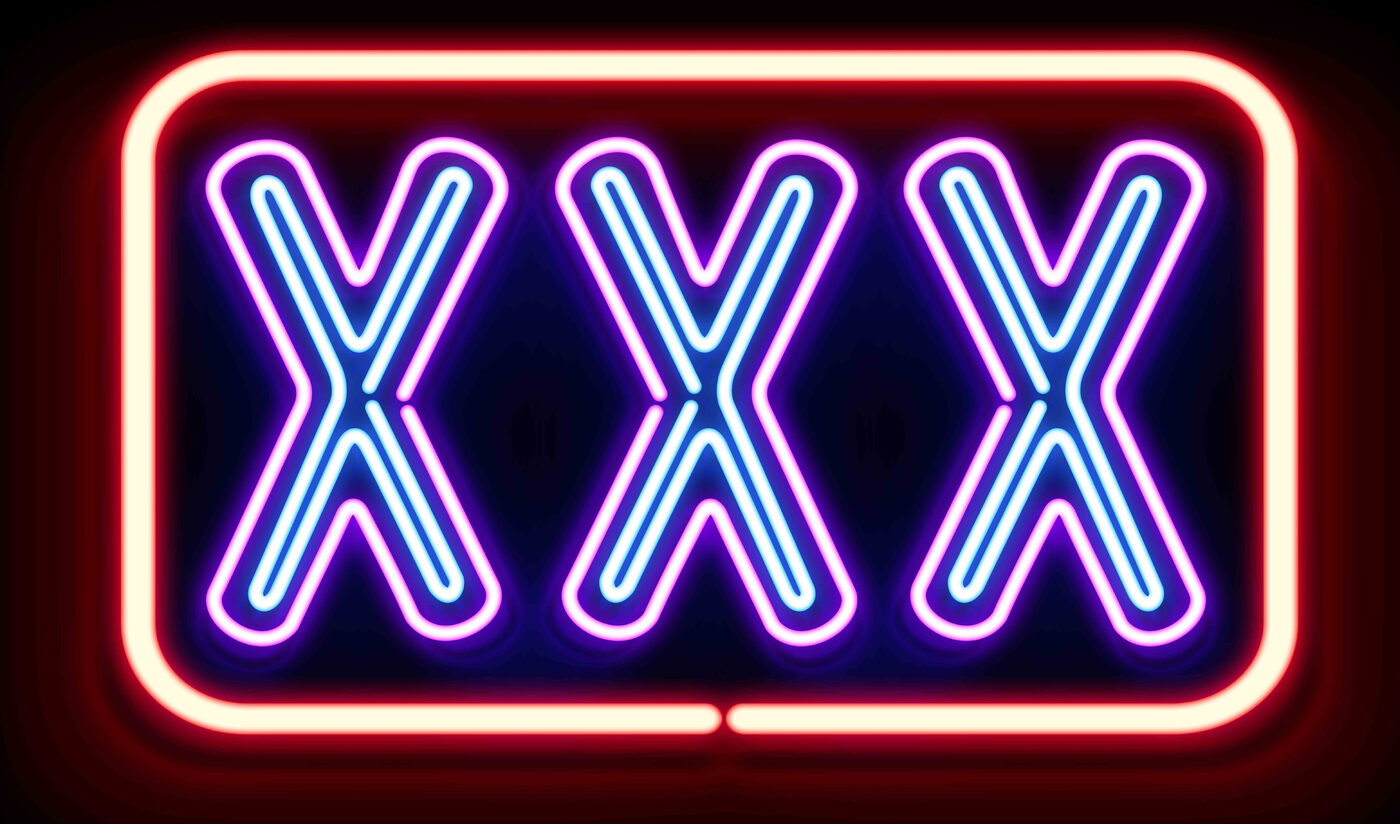 Neon sign with XXX