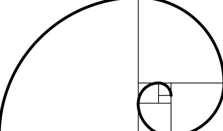Golden ratio spiral